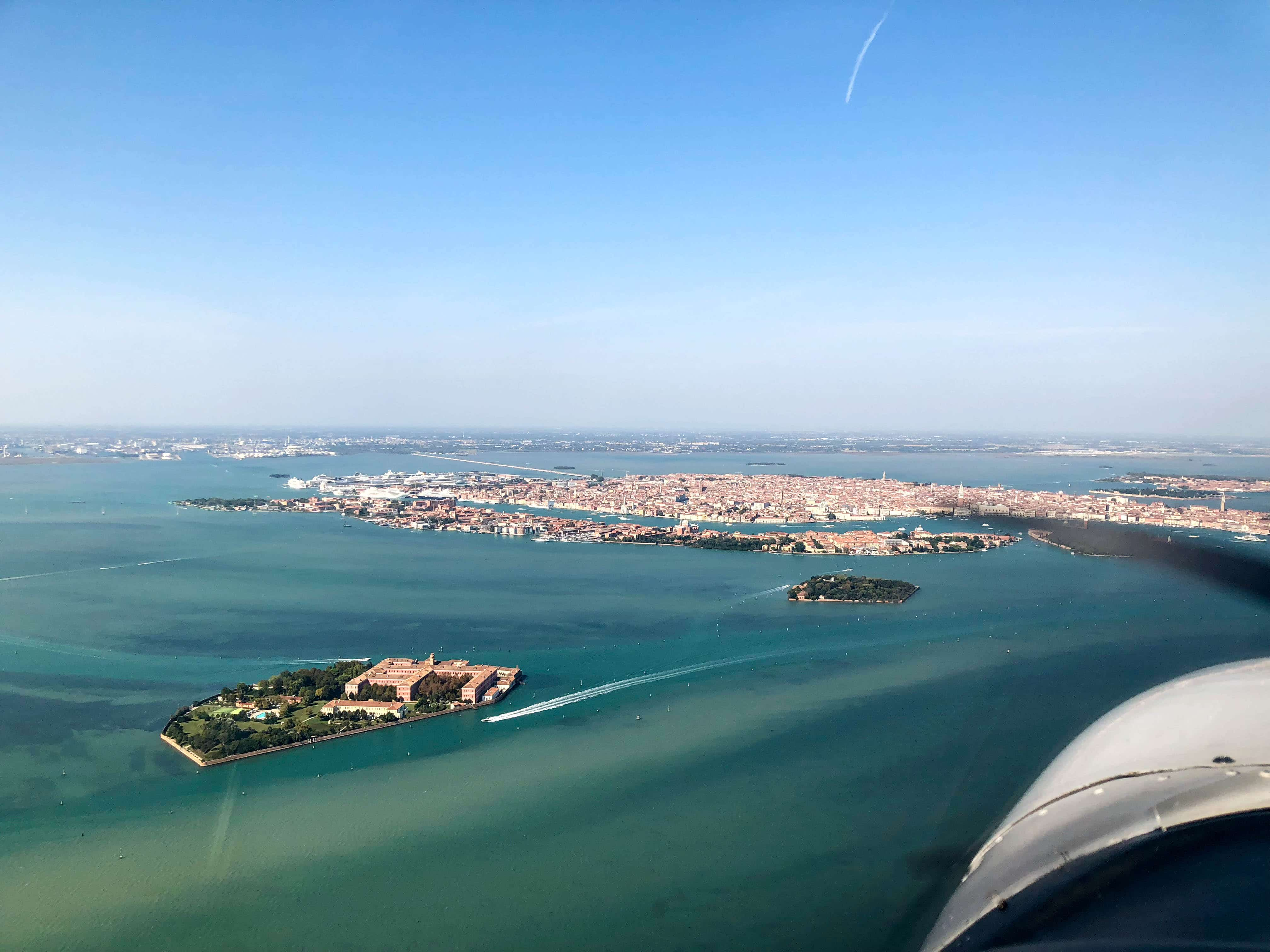 Venedig im Anflug auf LIPV