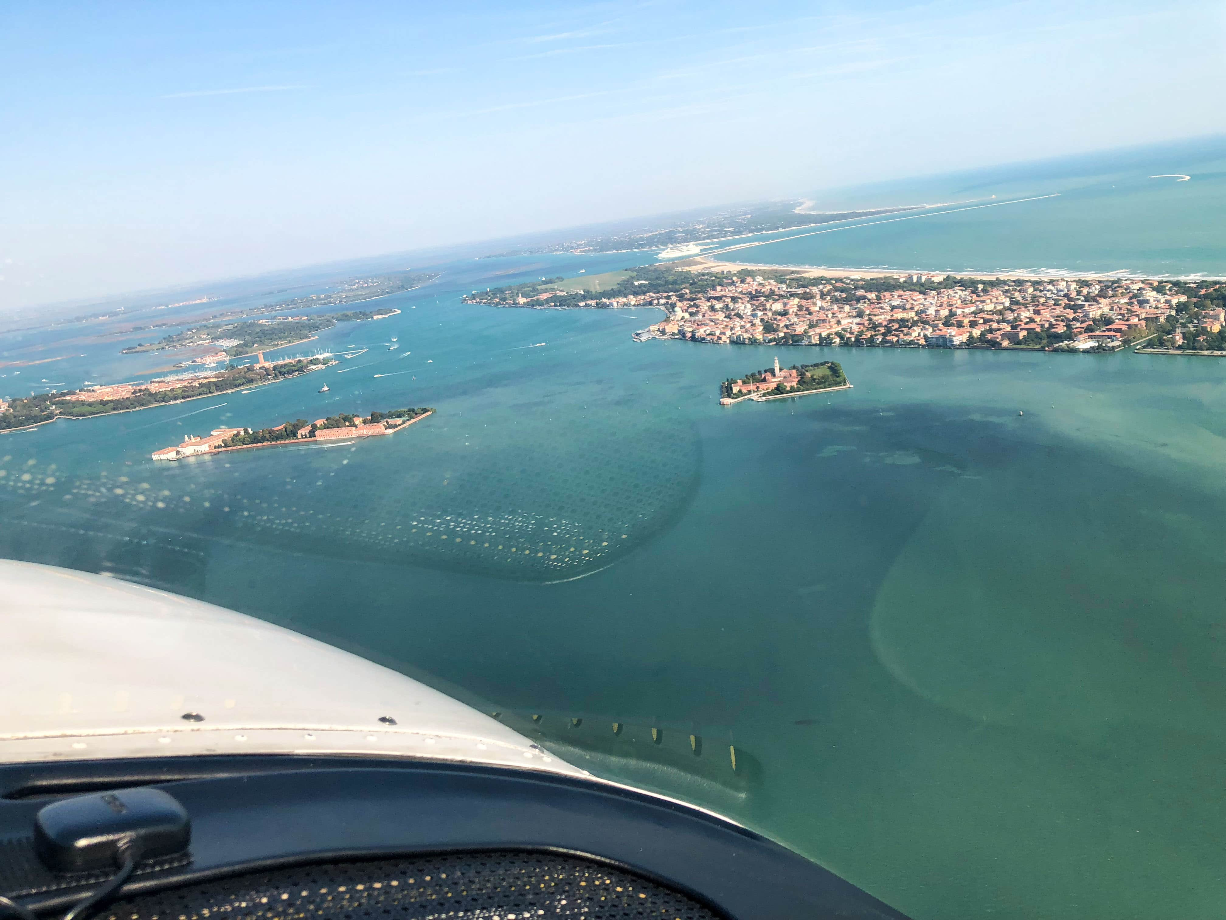 Der Flugplatz Venedig LIDO liegt einfach top.